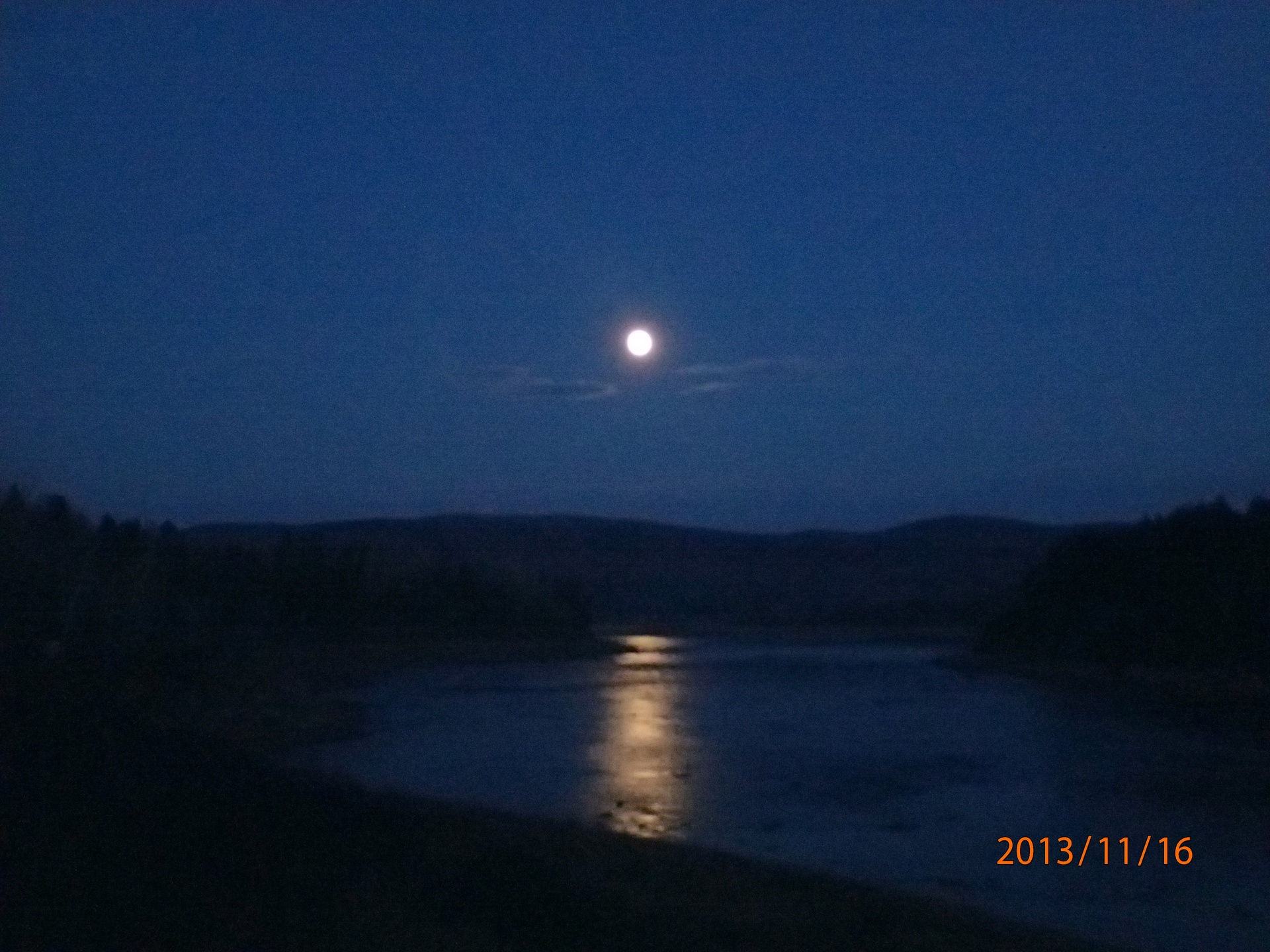 Moon rise over the mighty St. John river